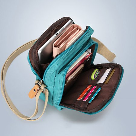 Durable Canvas Multi-Function Travel Crossbody Bag For Women