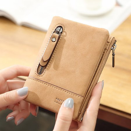 Sweet Bifold PU Leather Small Wallet Purse Card Holder For Women