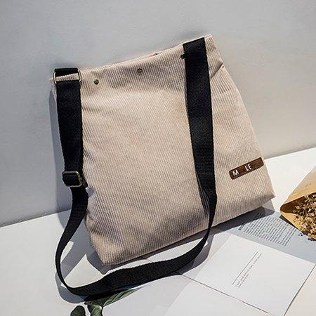 Women Leisure Corduroy Large Capacity Crossbody Bag