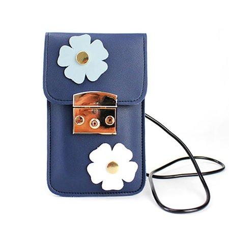 Floral Artificial Pearls Applique Cute Crssbody Bag Phone Purse For Ladies