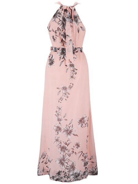 Women Casual Dress Square neck Going out Spaghetti Floral-print Dress
