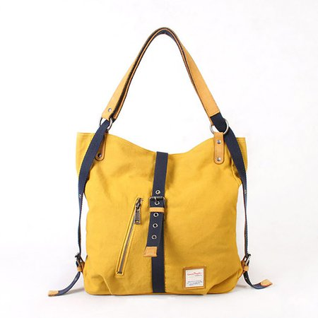 High Capacity Casual Canvas Versatile Backpack Shoulder Bag For Women