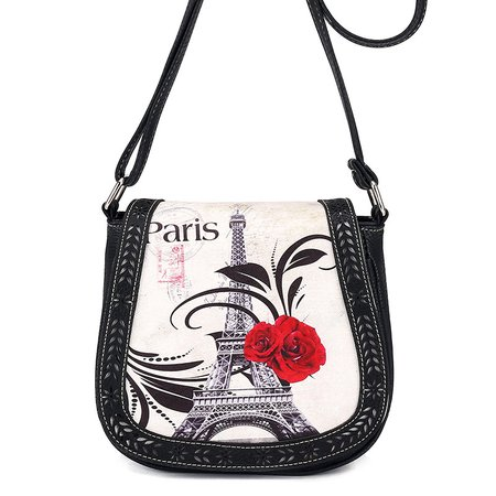 Ethnic Style Printed PU Leather Vintage Crossbody Bag For Women