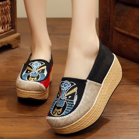Split Joint Fabric Casual Creepers