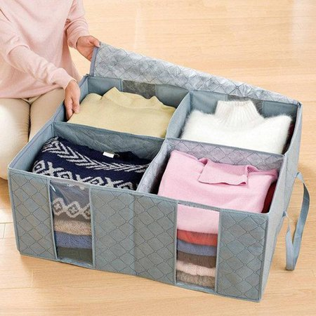 115L Ultra-Large Capacity Casual Folding Nonwovens Clothes Storage Bag
