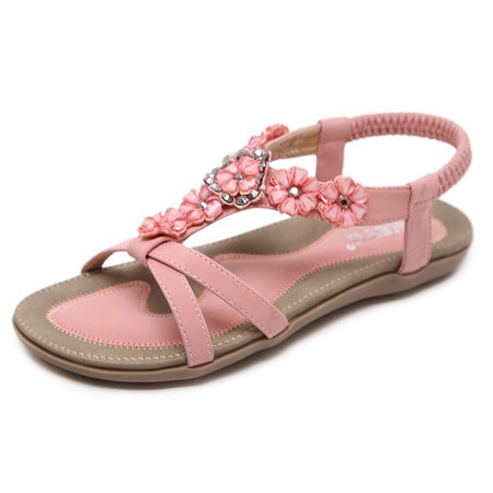 Flower Daily PU Elastic Band Sandals