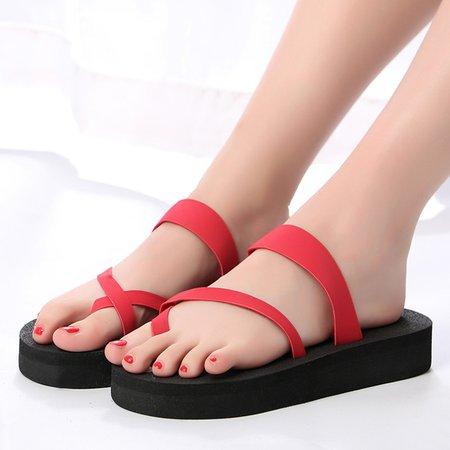 Clip Toe Platform Casual Sandals For Women