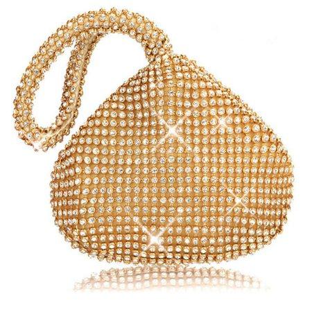 Triangle Shape Full Rhinestones Women's Evening Party Clutch Bag
