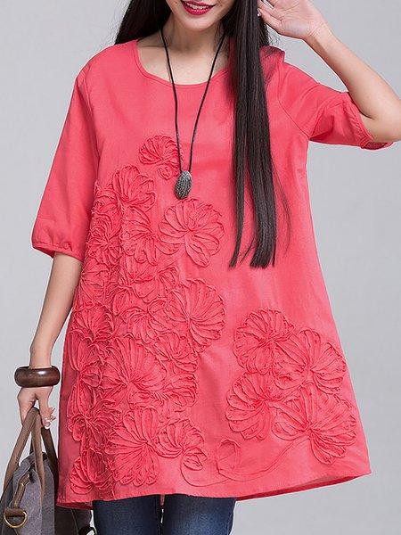 Women Casual Dress A-line Daily Short Sleeve Casual Dress