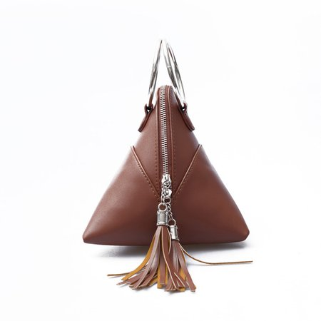 Retro Stylish Triangle Shape Solid Tote Bag For Women