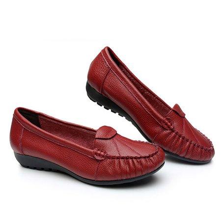 Coutures En Cuir Souple Chaussures Plates 31bcRP