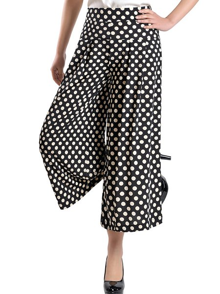Paneled Painted Casual Maxi Size Pants