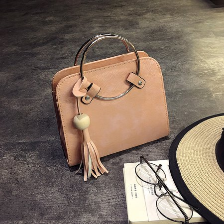 Elegant PU Leather Tassel Tote Bag Crossbody Bag For Women