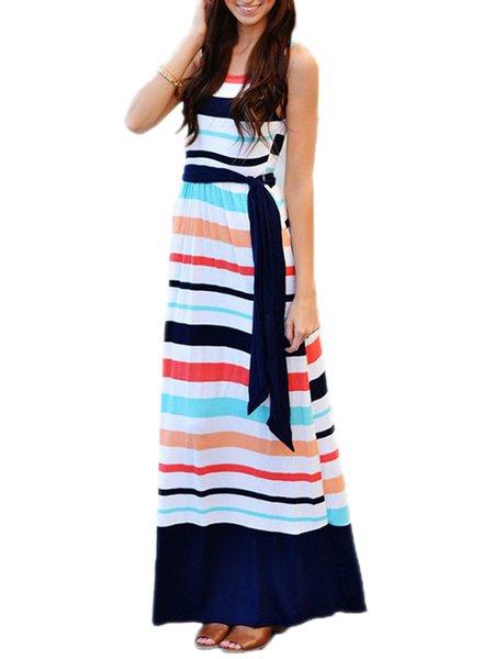 A-line Stripes Casual Casual Dresses
