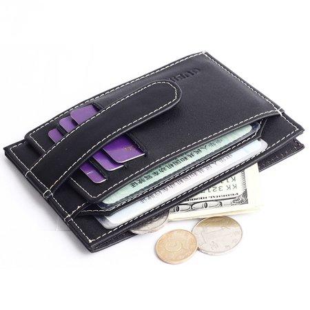 Cowhide Leather Retro Wallet Card Holder For Women Men