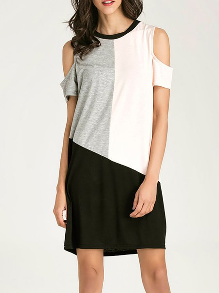 Casual A-line Short Sleeve Casual Dresses