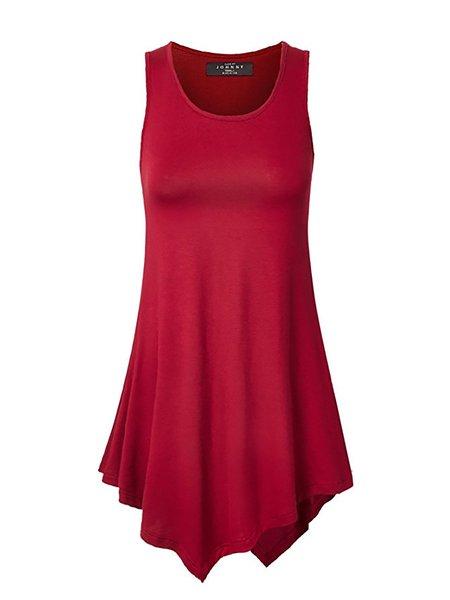 Sleeveless Paneled Casual Maxi Dresses