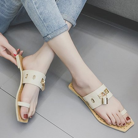 Casual Flat Heel Slip-On Slippers