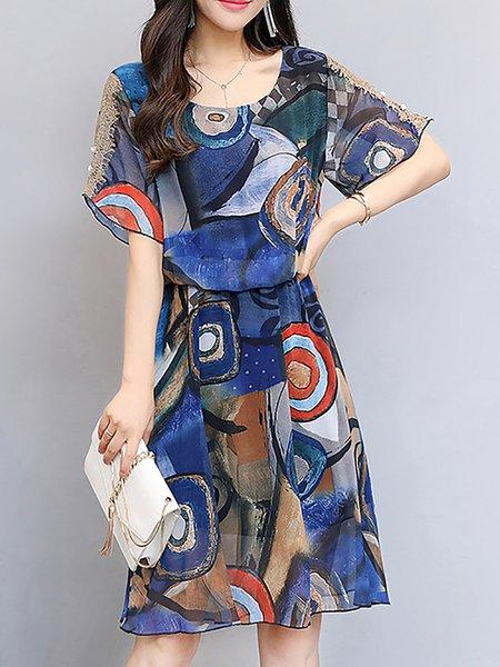 Summer Swing  Print Dresses