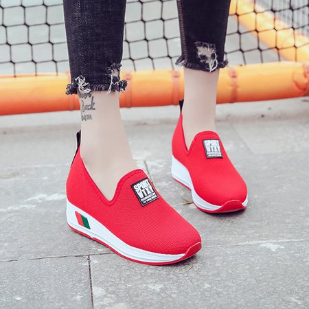 Daily Casual Platform Slip-On Sneakers