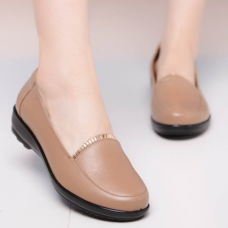 Casual Slip On Leather Flats