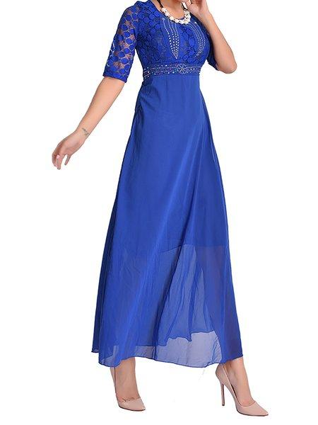 Casual Sleeveless Swing Prom Dresses