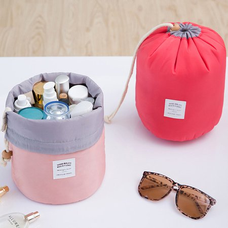 Drawstring Woman Cosmetic Storage Kit Bathroom Amenities Travel Storage Bag