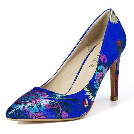 Blue High Heels Stiletto wedding Pumps