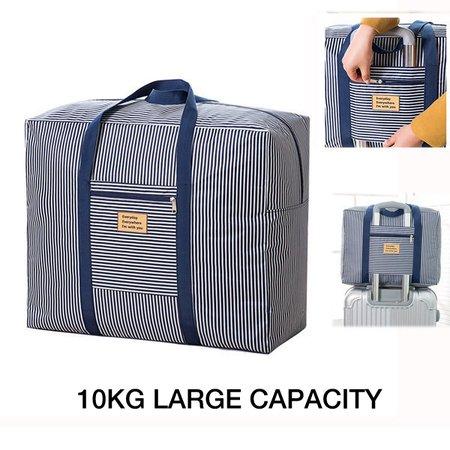 Casual Waterproof Stripe Travel Luggage Bag 10kg Large Capacity Durable Storage Bag