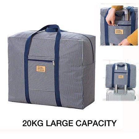 Casual Waterproof Stripe Travel Luggage Bag 20kg Large Capacity Durable Storage Bag