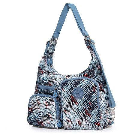 Women Printed Casual Waterproof Oxford Versatile Shoulder Bag Backpack
