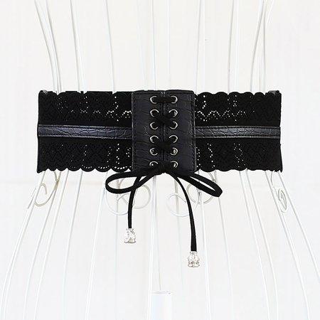 Women Elegant Plain Artificial Leather Belt