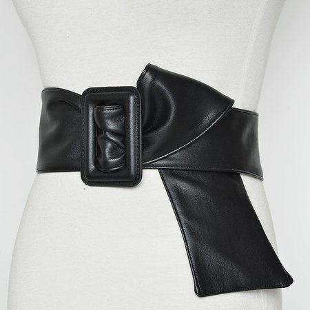 Women Casual Plain Artificial Leather Belt