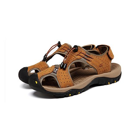 Summer Artificial Leather Casual Magic Tape Men's Sandals