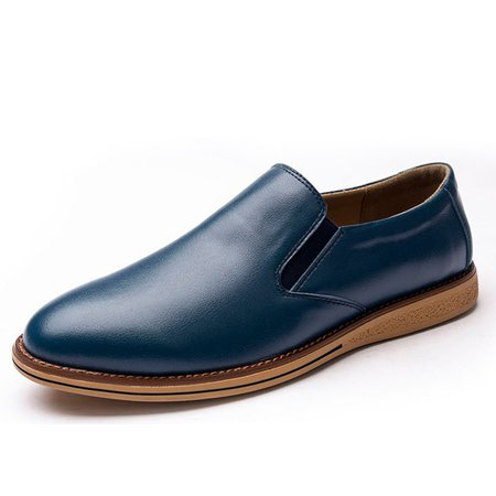 All Season Low Heel Casual Artificial Leather Formal Shoes
