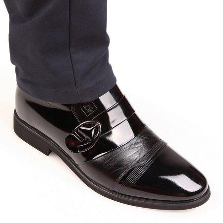 Low Heel All Season Buckle Formal Shoes