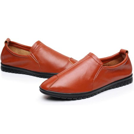 Breathable Artificial Leather Flat Heel Shoes