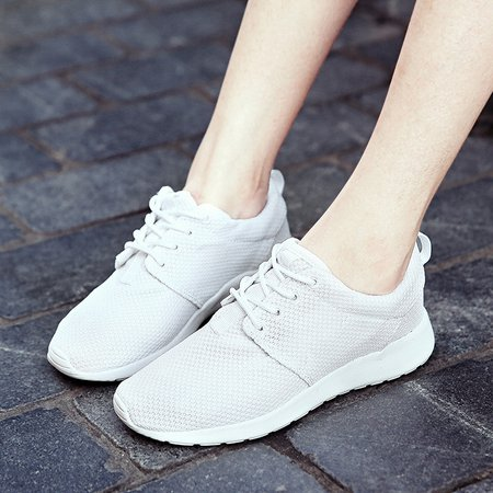 Flat Heel Mesh Lace-up Spring/Fall Sneakers