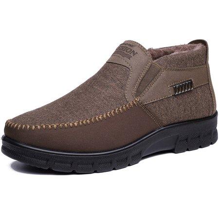 Warm Non-slip Flat Heel Cotton Casual Boots