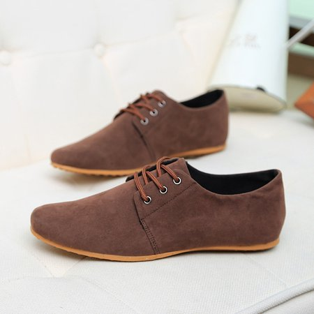 Flat Heel Artificial Leather Lace-up Formal Shoes