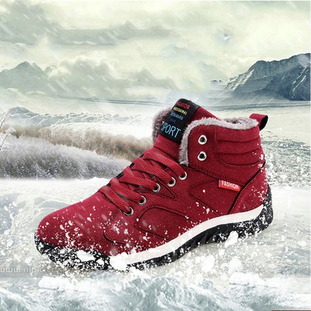 Damping Warm Non-slip Athletic Lace-up Boots