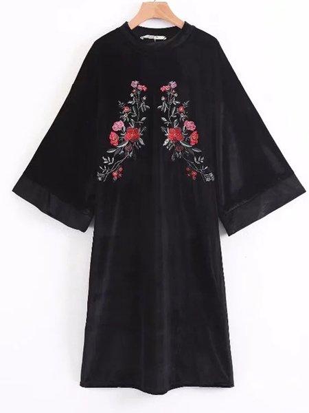 Shift Bell Sleeve Casual Dress