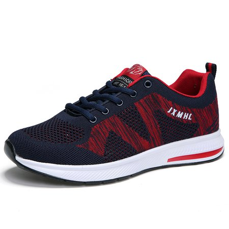 Breathable Lace-up Athletic Sneakers