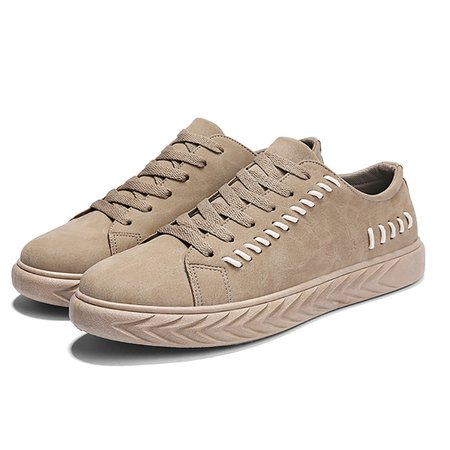 Artificial Leather Lace-up Sneakers