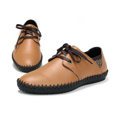 Flat Heel Casual Artificial Leather Lace-up Casual Shoes