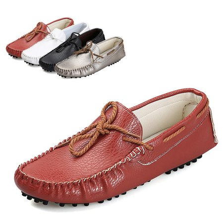 Bowknot Flat Heel Daily Artificial Leather Flats & Loafers