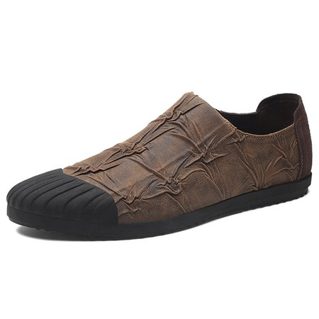 Men Microfiber Leather Slip Resistant Casual Shoes