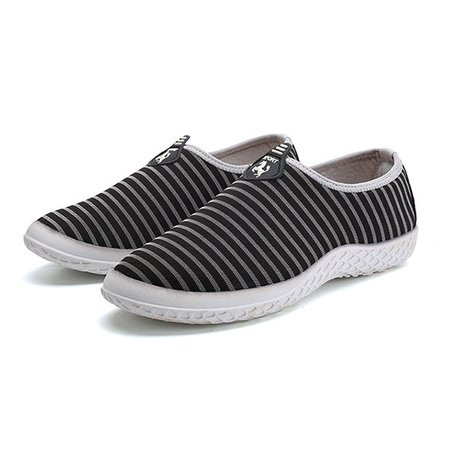 Men Fabric Breathable Soft Slip On Walking Casual Shoes