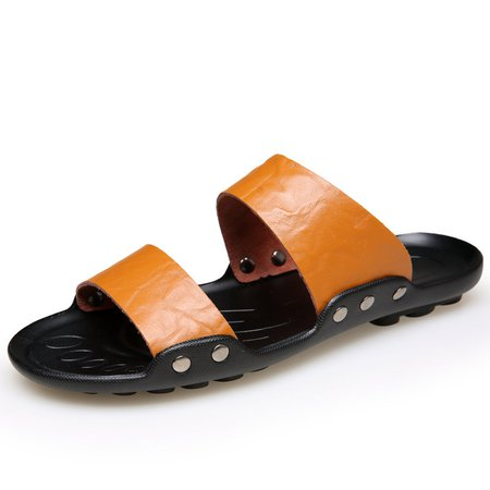 Large Size Men Opend Toe Soft Cool Water Beach Sandals