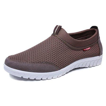Men Large Size Breathable Slip Resistant Casual Shoes